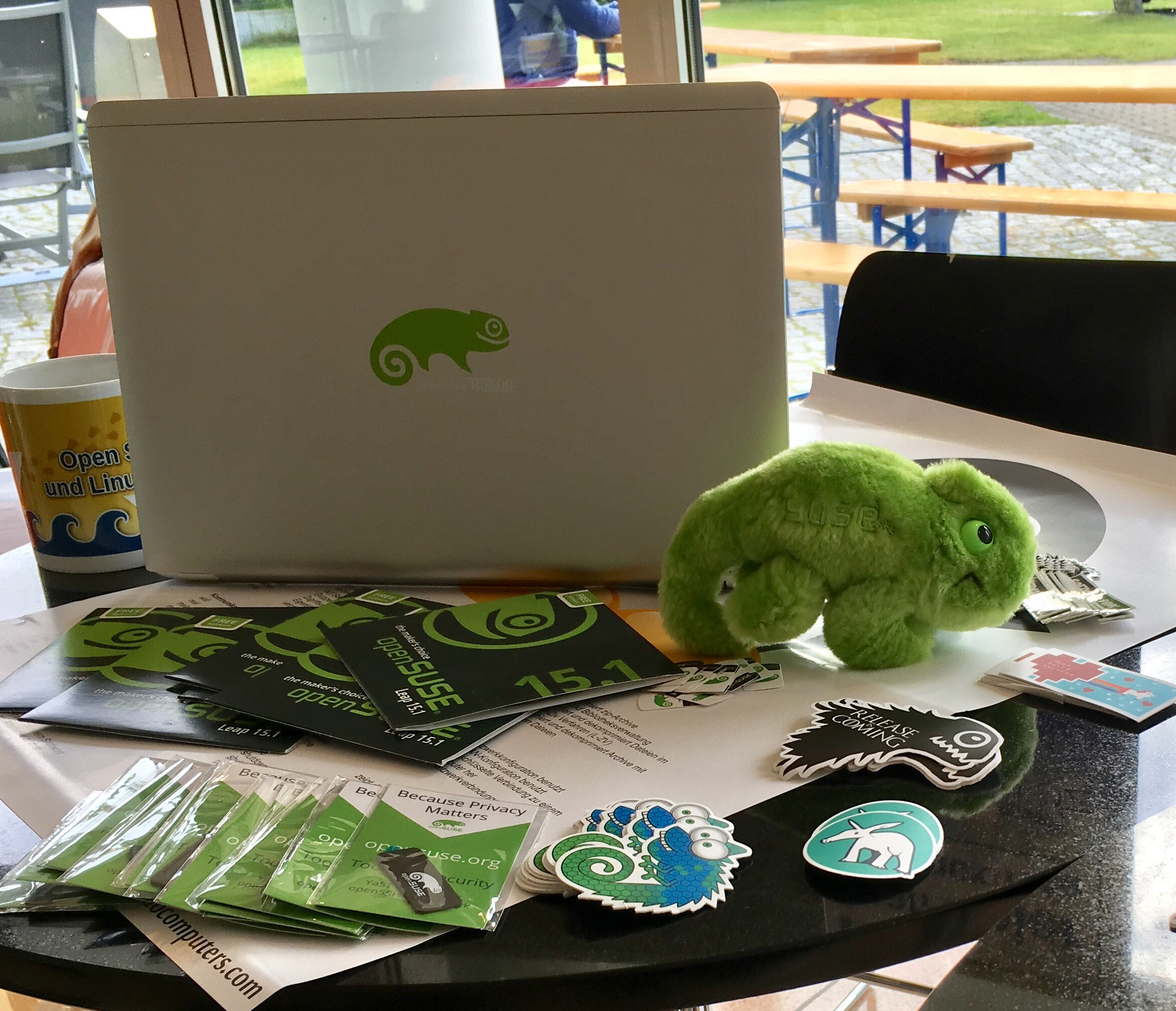 openSUSE-Stand (Foto: Christian Imhorst, CC-0)